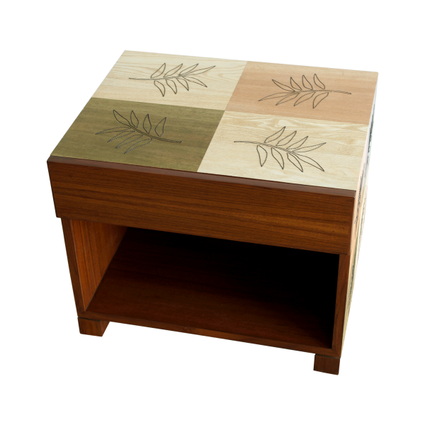 Flying Leaves Bed-Side Table