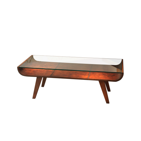 Starboard Coffee Table - Sand Coloured Leather