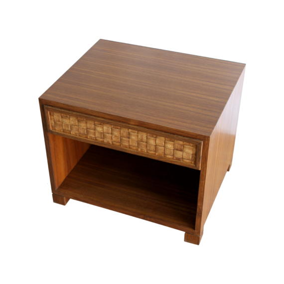 Veneer Weave Bed Side Tables