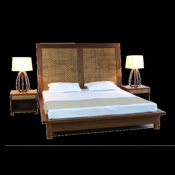 Veneer Weave Double Bed
