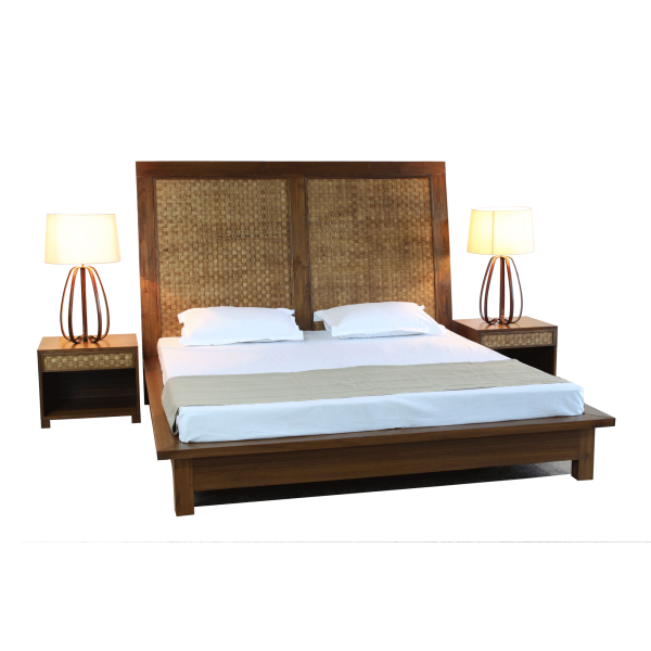 Veneer Weave Double Bed