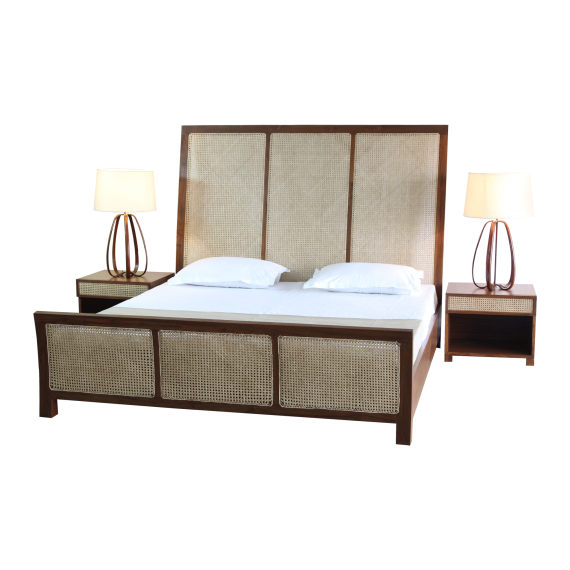 Cane Weave Double Bed