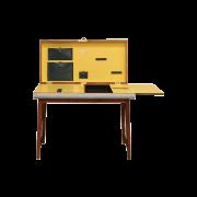 Case Study Desk 02 - Antique White Leather