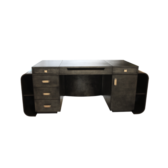 Yacht Club Desk 01 - Antique Silver