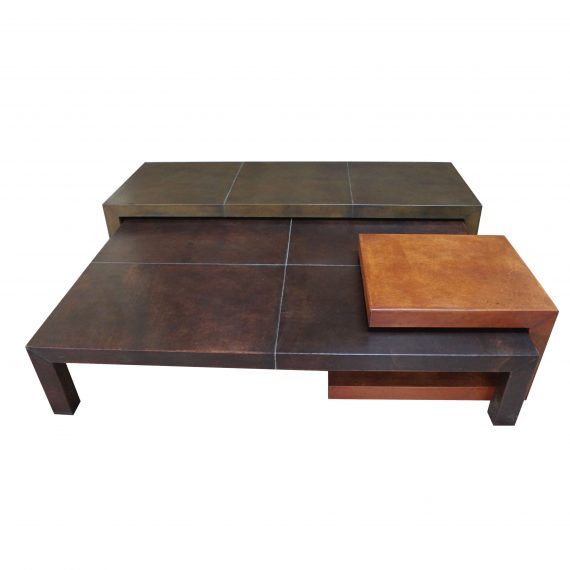 Family nest Set of three Bunching coffee table
