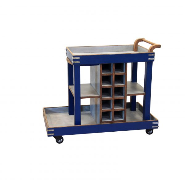 trolley-cum-wine-rack